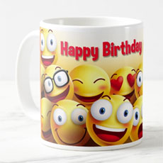 Happy Birthday Smiley Mug
