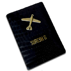 Black Plane Personalised Passport Case