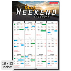 Long Weekend Calendar