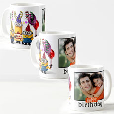 Personalised Minions Birthday Mug