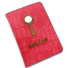 Red Vanity Passport Case