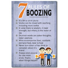 Seven Rules Of Boozing Poster