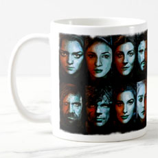 Game Of Thrones Cast Fan Art Mug