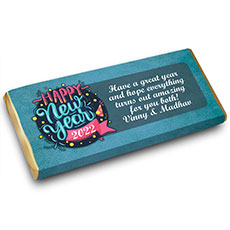 Blue New Year Personalised Chocolate