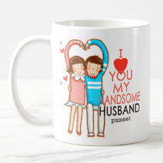 Handsome Husband Personalised Mug