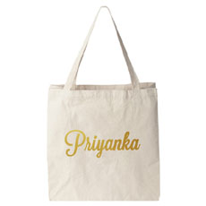 Personalised Canvas tote bag