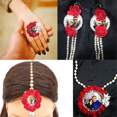 Floral Photo Jewelry Set