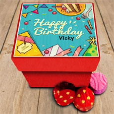 Birthday Celebration Personalised Chocolate Box
