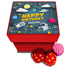 Space Birthday Personalised Chocolate Box