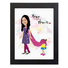 Home Is Wherever Mom Is Personalized Caricature
