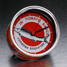 Fish Clock In A Can