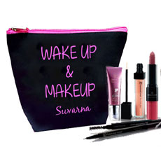 Wake Up Makeup Personalised Pouch