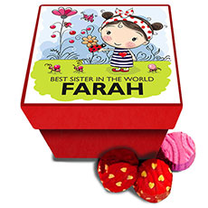 Best Sister Personalised Chocolate Box