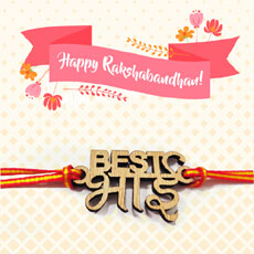 Best Bhai Engraved Rakhi With Card