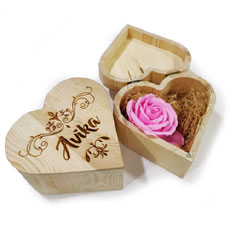 Heart Shaped Personalised Engraved Box