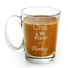 Engraved Chai Mug