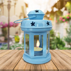 Colored Teelight Lantern