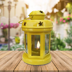 Yellow Teelight Lantern