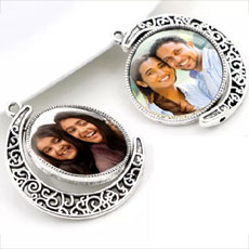 Double Sided Personalised Photo Pendant