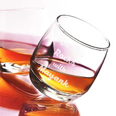 Personalised Tilted Whiskey Glass