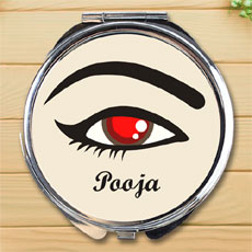 Eye Style Personalised Compact Mirror