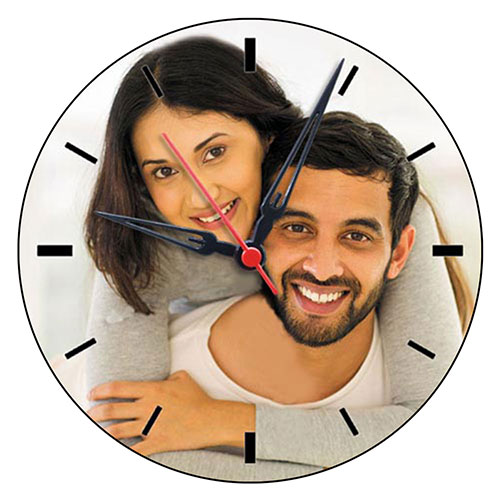 Round Personalised Wooden Clock