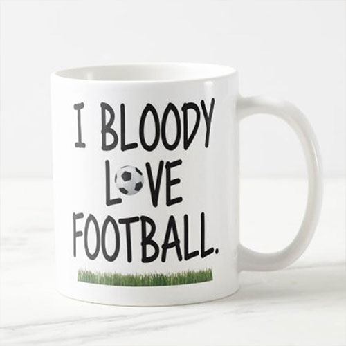 Love Football Personalised Mug