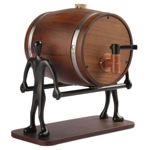 Teak Wood Liquor Decanter