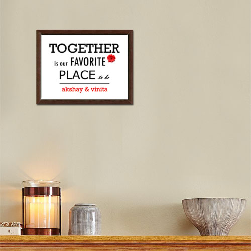 Together Personalised Memento