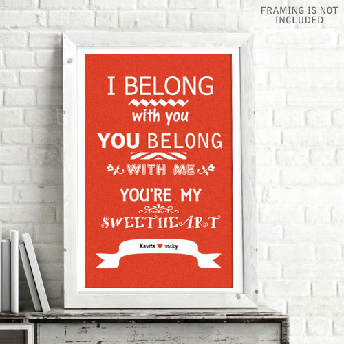 I Belong Personalised Poster