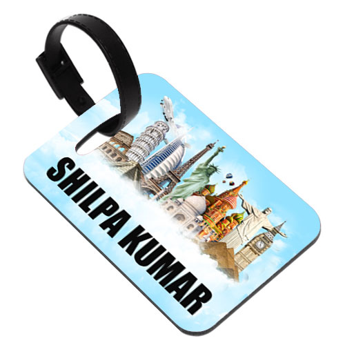 World Traveller Personalised Luggage Tag