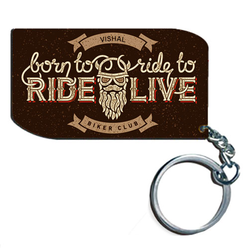 Born To Ride Personalised Keychain