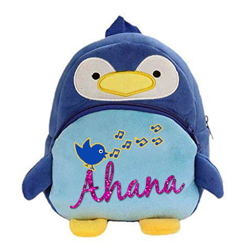 Personalised Penguin Backpack For Kids