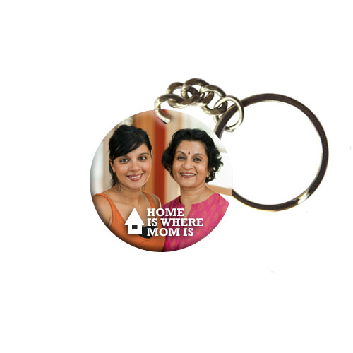 Home Is Where Mom Is Keychain