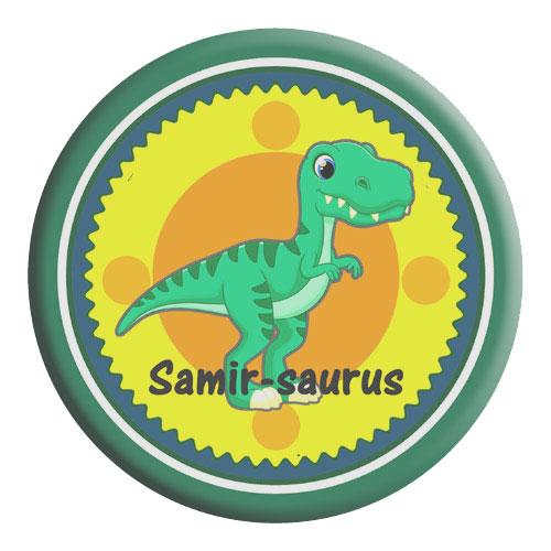 Kids Dinosaur Name Badge
