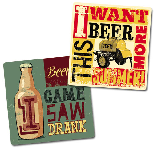 Beer Lovers Coasters Set