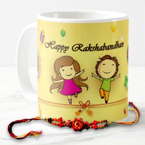 Rakshabandhan Mug With Rakhi