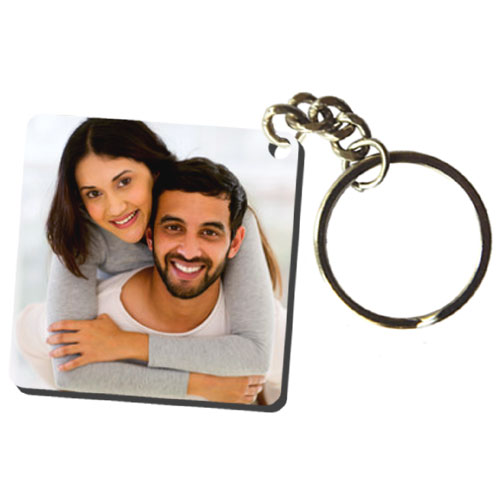Square Personalised Keychain
