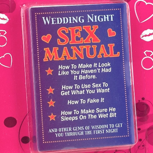 Wedding Night Manual Funny Hen Party Gift Rs 299 Birthday Anniversary Gifts
