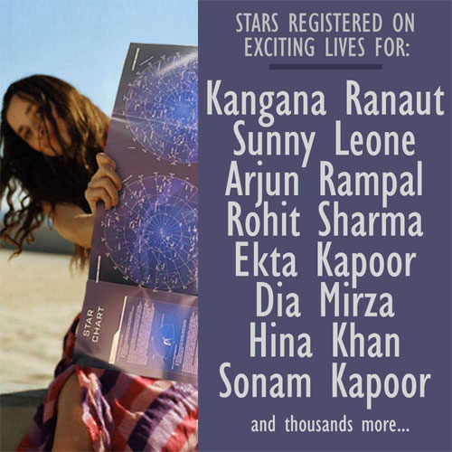 Name A Star - available in India - Rs