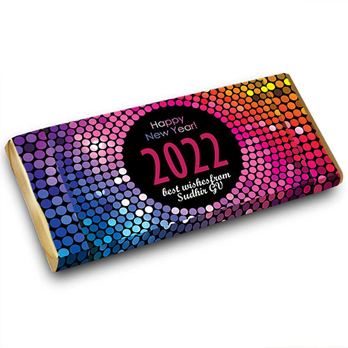 New Year Personalised Chocolate