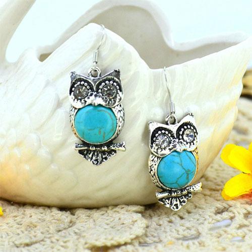 Funky Owl Earrings