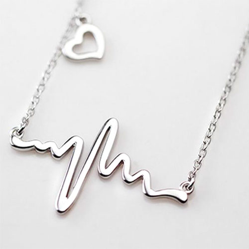 Heartbeat Pendant And Chain