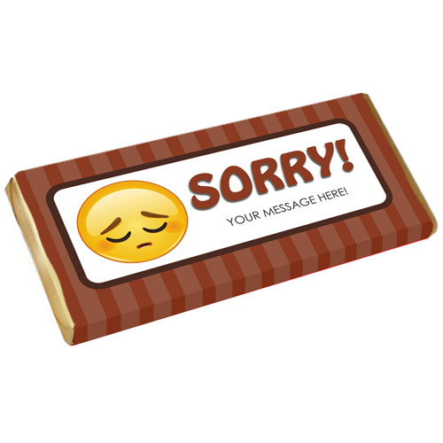 Sorry Personalised Chocolate