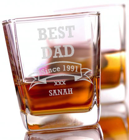Best Dad Whiskey Glass