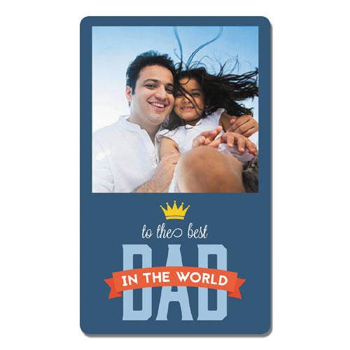 Best Dad Photo Magnet