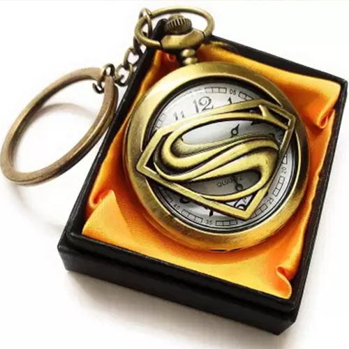 Super Man Vintage Pocket Watch