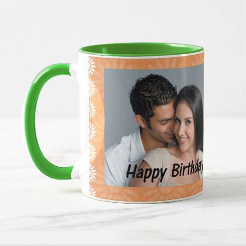 Green Personalised Photo Mug
