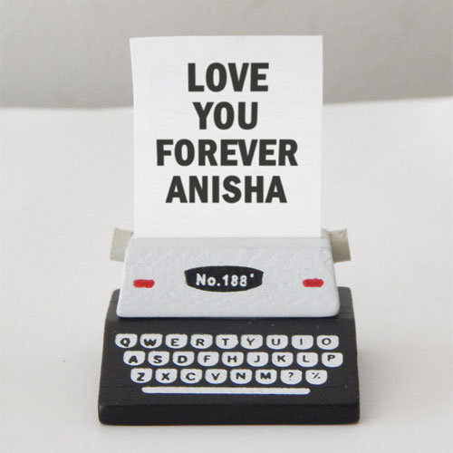 Personalised Typewriter Message