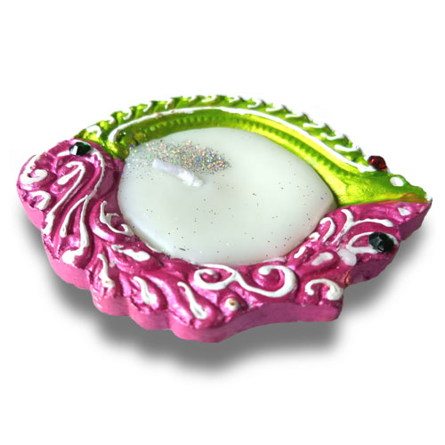 Multicolored Diya Set Of Four